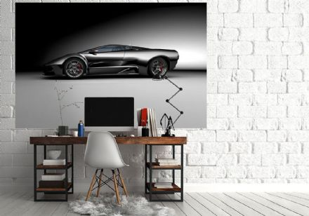 Grey Super sports car wall murals - S